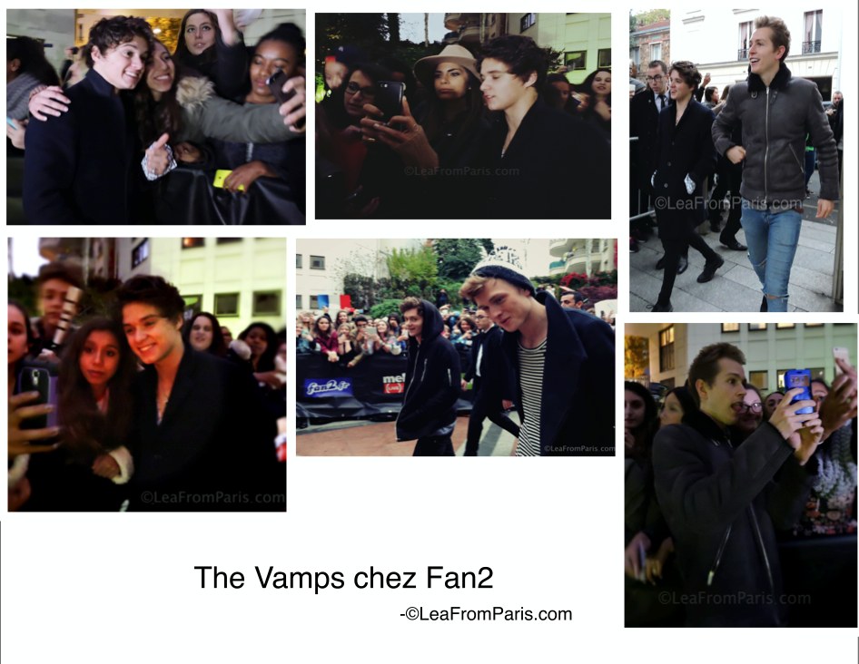 The Vamps chez Fan2 par leafromparis